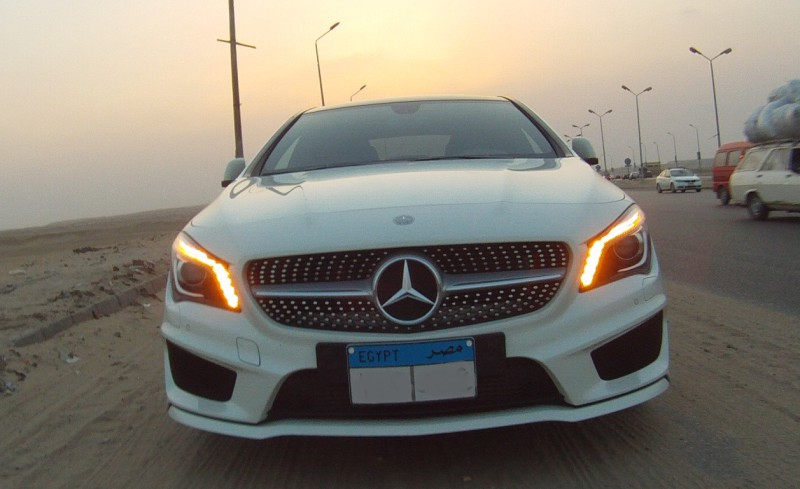 mercedes cla 200 amg the new night mare for audi a3 sedan and bmw 1 series in egypt. Black Bedroom Furniture Sets. Home Design Ideas